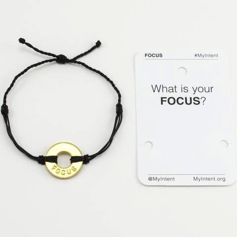 Bracelet Focus Gold/Black MyIntent Bracelet