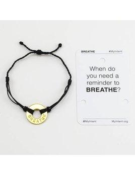 Bracelet Breathe Gold/Black MyIntent Bracelet