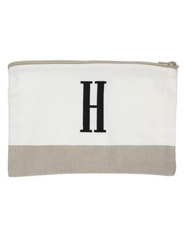 Pouch Embroidered Color Block Pouch