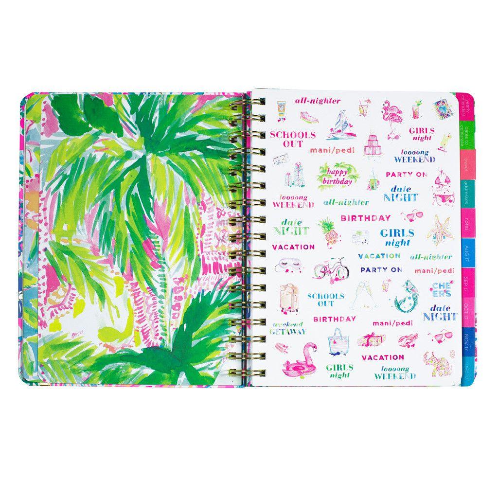 Lilly Pulitzer 17 Month Large Agenda - Flamingo Beach