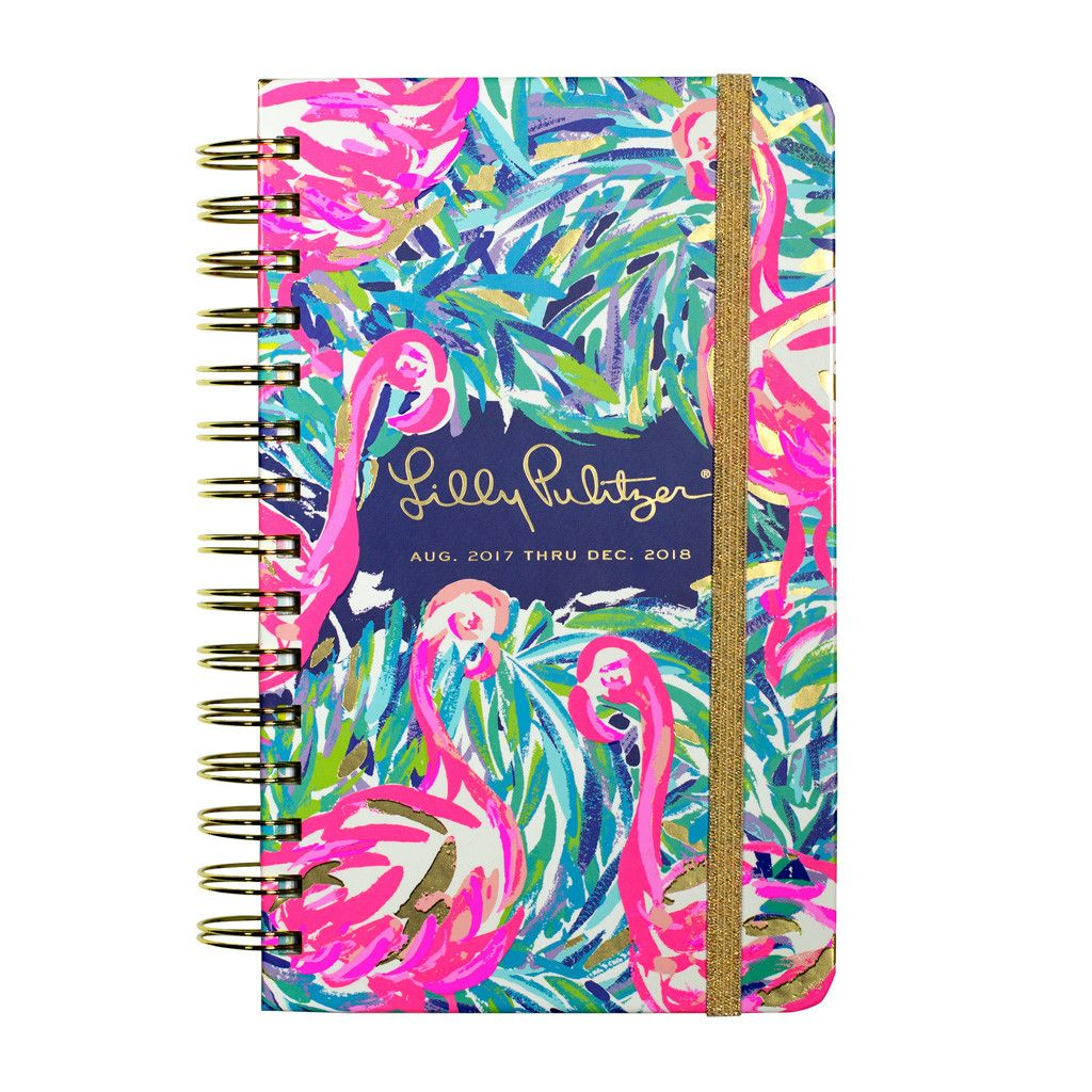 Lilly Pulitzer 17 Month Medium Agenda - Flamingo Beach
