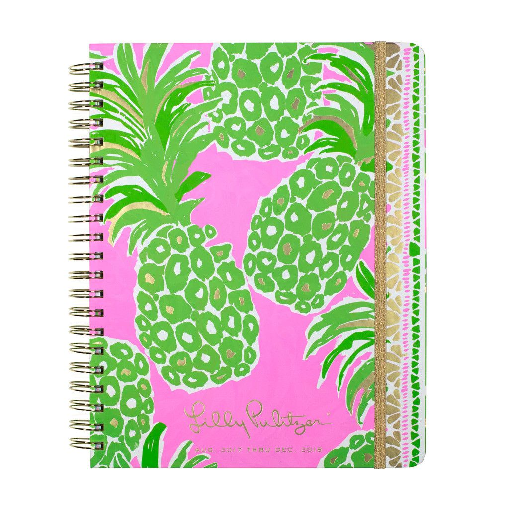 Lilly Pulitzer 17 Month Jumbo Agenda - Pineapple Pink