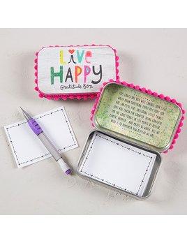"""Live Happy"" Gratitude Box"