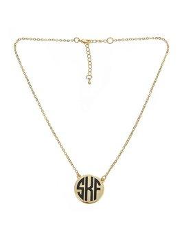 Necklace Monogrammed Short Charleston Necklace