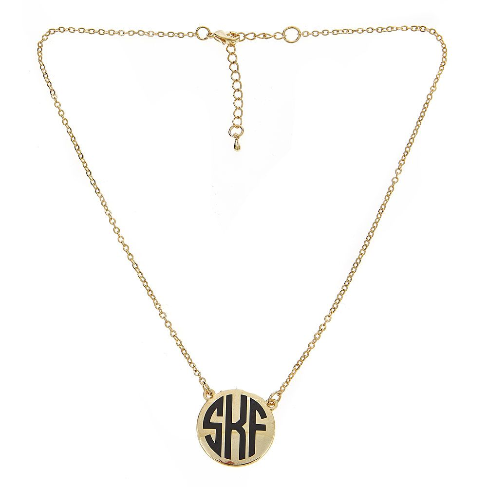 Necklace Monogrammed Short Charleston Necklace