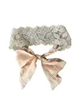 Blush Lace Tie Headband by Headbands of Hope