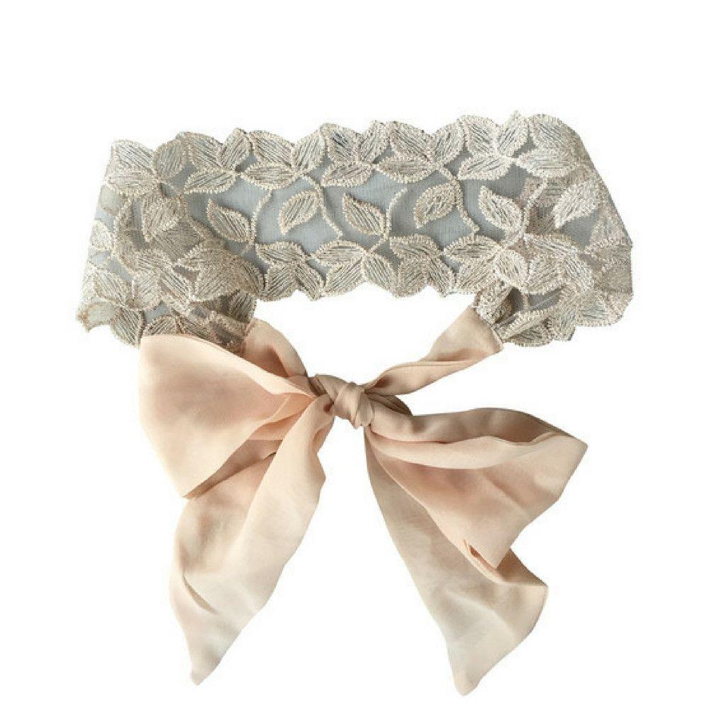 Blush Lace Tie Headband by Headbands of Hope