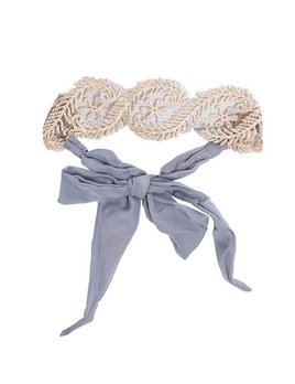 Grey Lace Tie Headband by Headbands of Hope