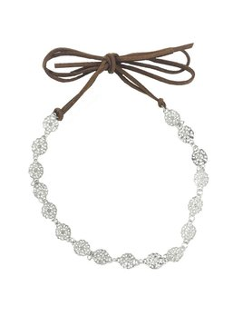 Headband Silver Floral Choker Headband by Headbands of Hope