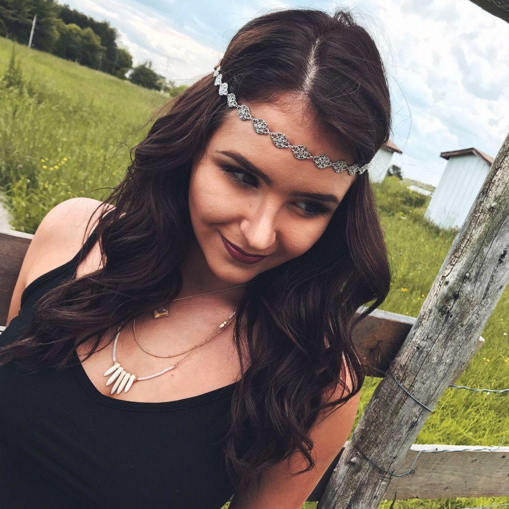 Headband Silver Floral Choker Headband by Headbands of Hope