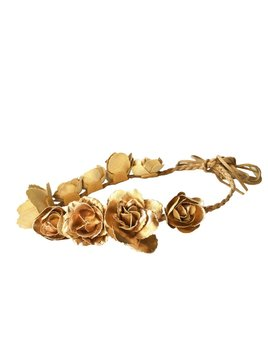 Headband Gold Flower Crown by Headbands of Hope