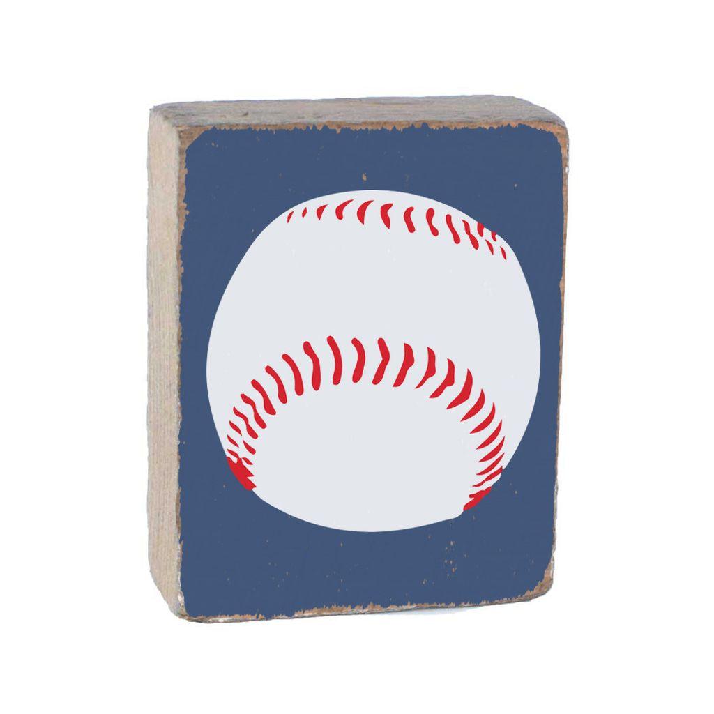 Blueberry Tumbling Block, White Baseball