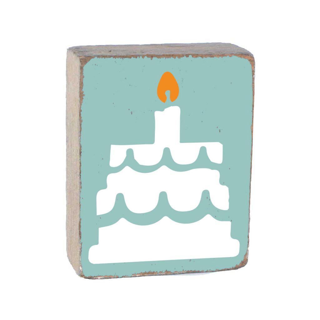 Sea Glass Tumbling Block, White Birthday Cake