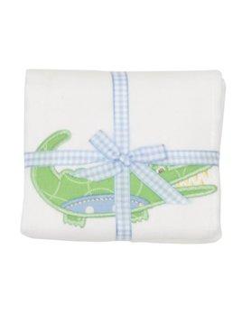 Burp Cloth Blue Alligator Burp Cloth