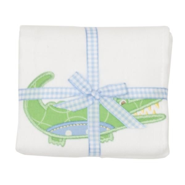 Burp Cloth Blue Alligator Burpcloth