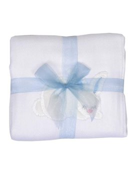 Burp Cloth Blue Bunny Burpcloth