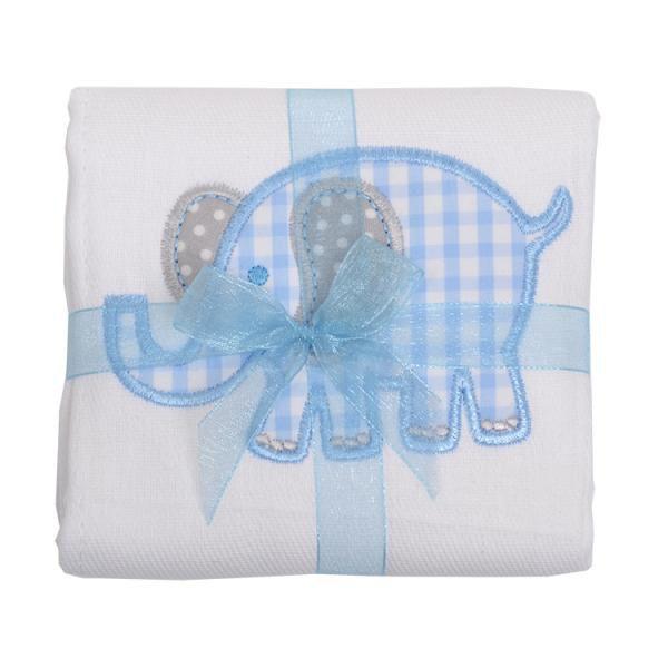 Burp Cloth Blue Elephant Burp Cloth