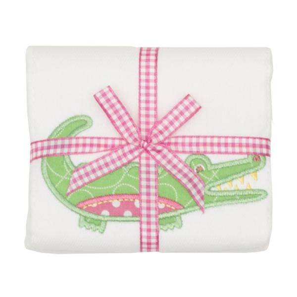 Burp Cloth Pink Alligator Burpcloth