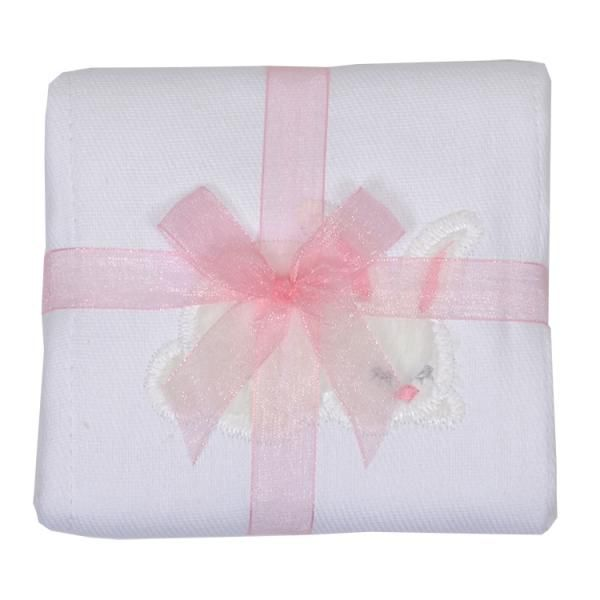 Burp Cloth Pink Bunny Burpcloth