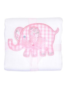 Burp Cloth Pink Elephant Burpcloth