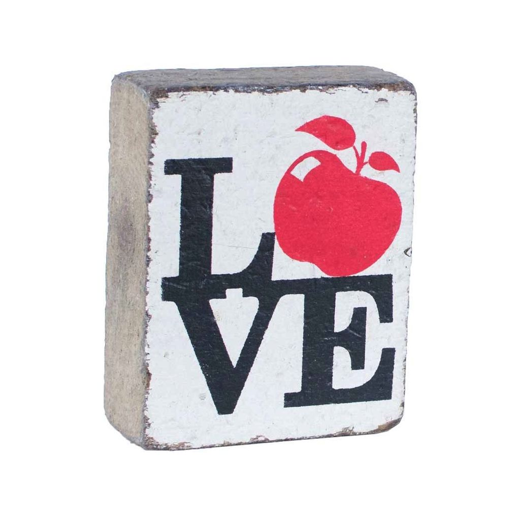 White Tumbling Block, Apple Love