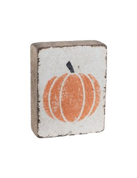 White Tumbling Block, Pumpkin