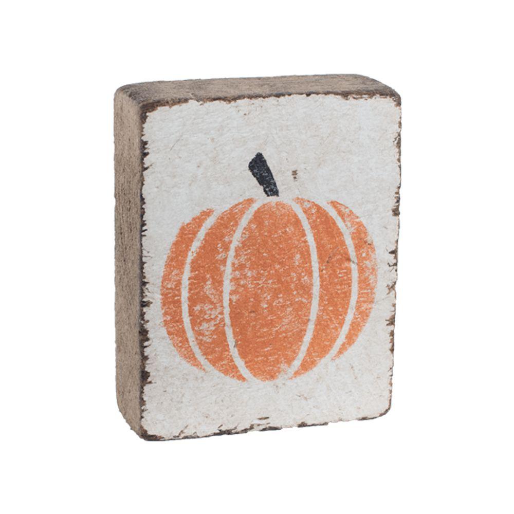 White Tumbling Block, Pumpkin
