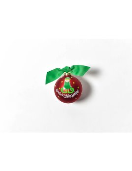 Ornament Santa's Little Helper Girl Glass Ornament