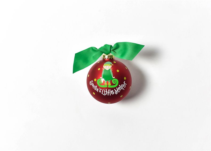 Ornament Santa's Little Helper Girl Glass Ornament