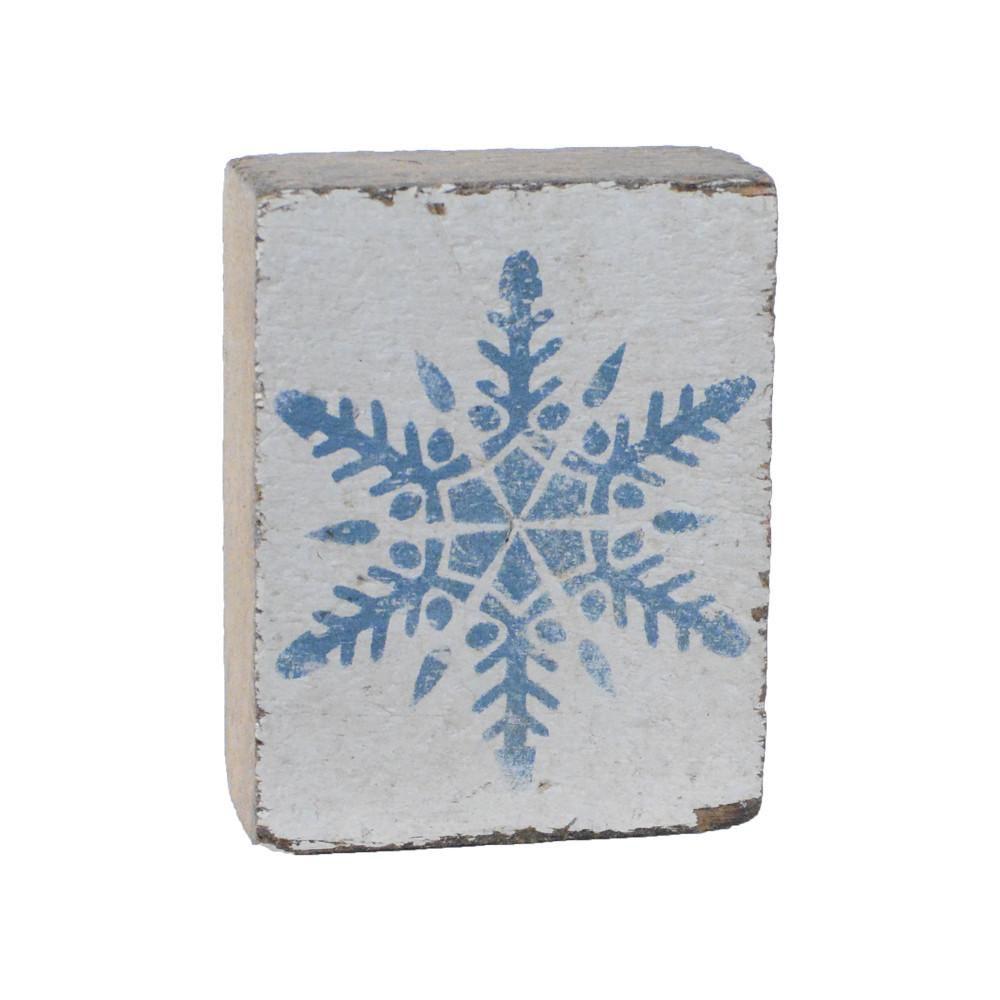 White Tumbling Block, Victory Blue Snowflake