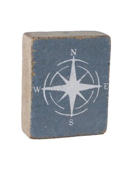 Stone Tumbling Block, White Compass