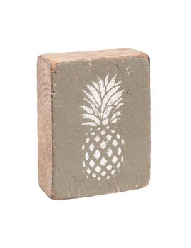 Sage Tumbling Block, White Pineapple