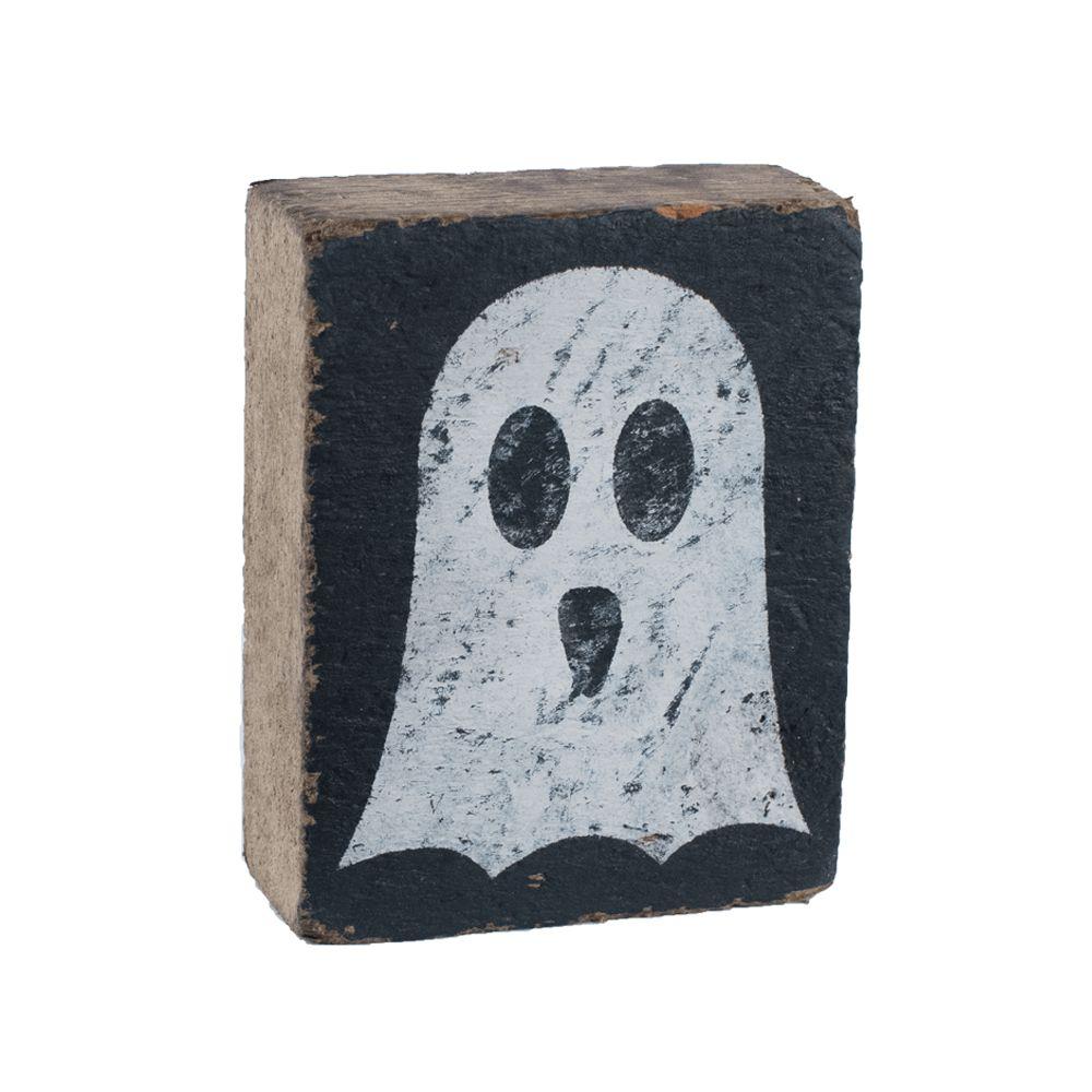 Black Tumbling Block, White Ghost