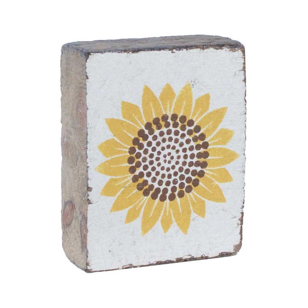 White Tumbling Block, Sunflower