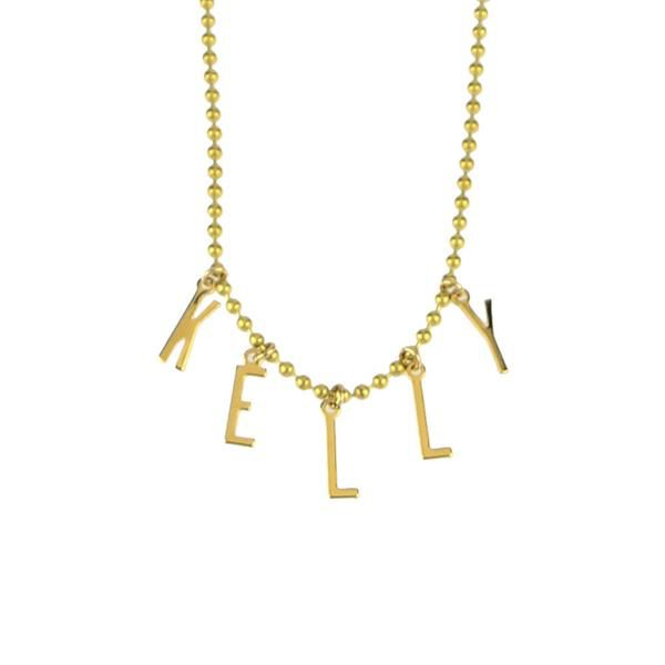 Necklace Belize Name Necklace by Moon and Lola