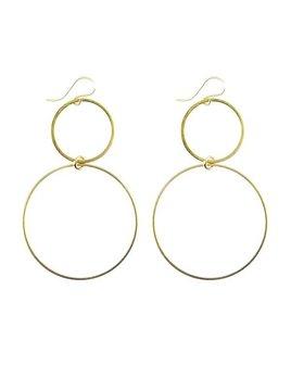 Earrings Kos Circle Earrings by Moon and Lola