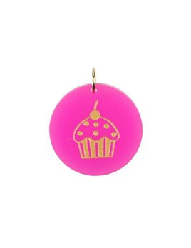 Charm Eden Cupcake Gold Charm by Moon and Lola