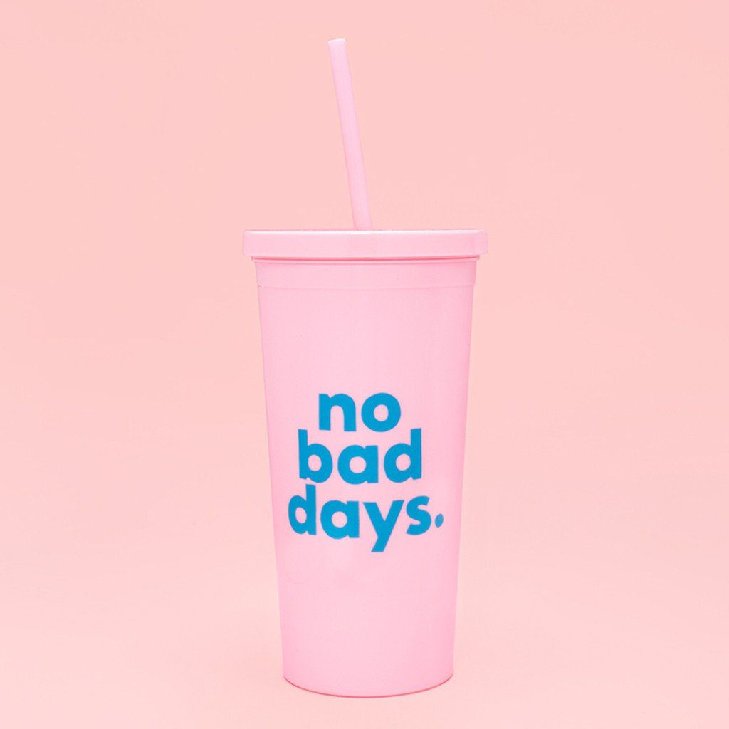 Tumbler ban.do sip sip tumbler with straw - No Bad Days