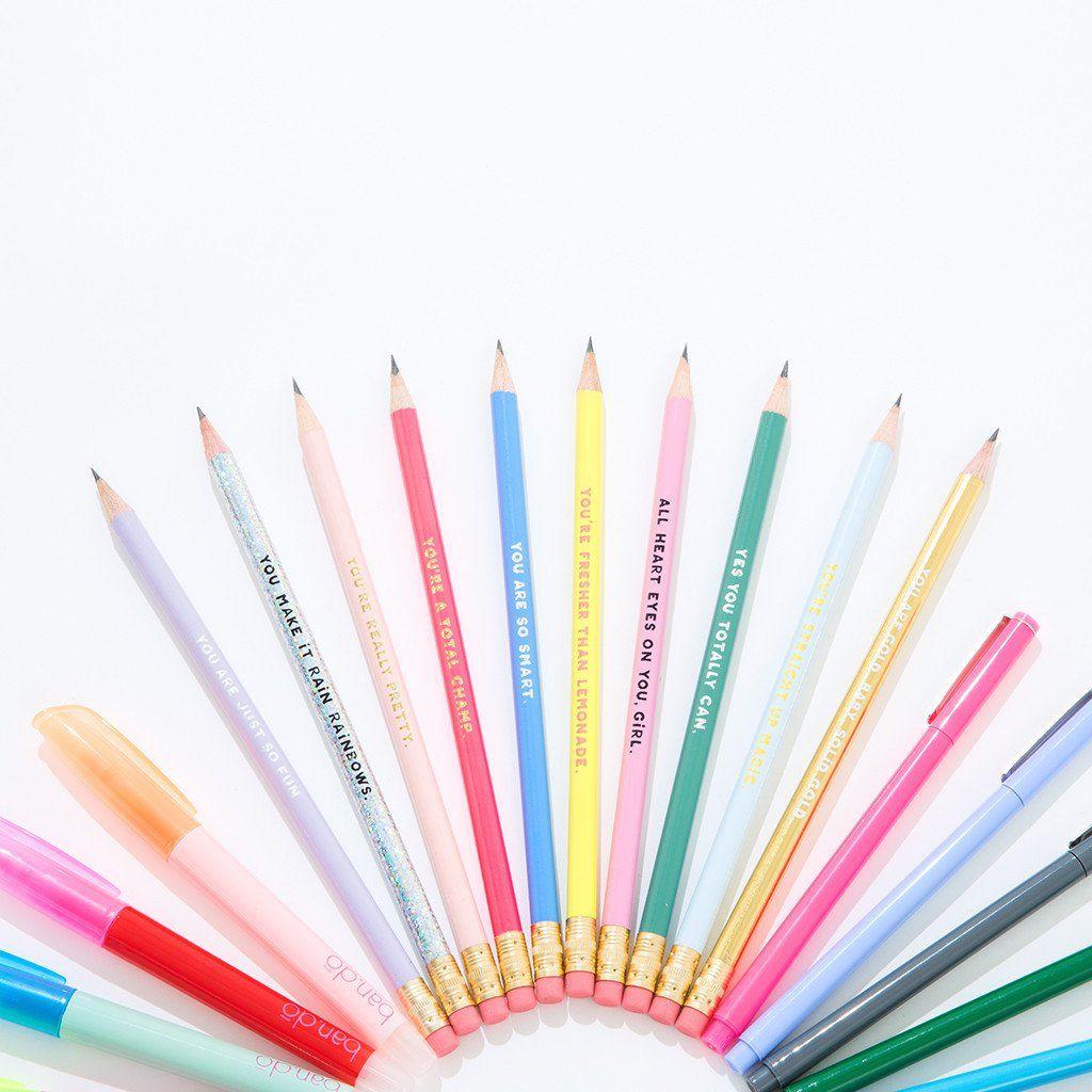 Pen/Pencil ban.do compliment pencil set - assorted set of 10