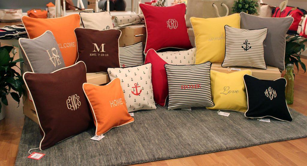 Pillow Monogrammed Canvas Pillow