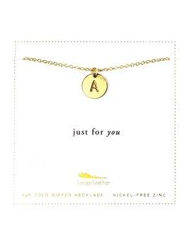 Necklace Letter Disc Necklace