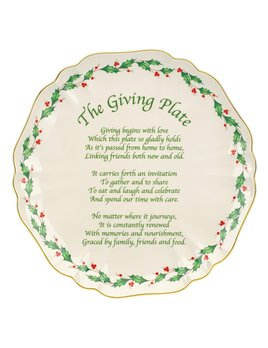 Holiday Giving Plate by Lenox