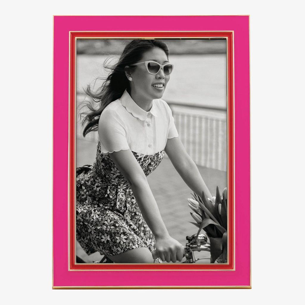 Frame Kate Spade Portland Enamel  4X6 Frame, Pink/Red