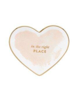 Kate Spade Posy Court Small Heart Dish by Lenox, Blush