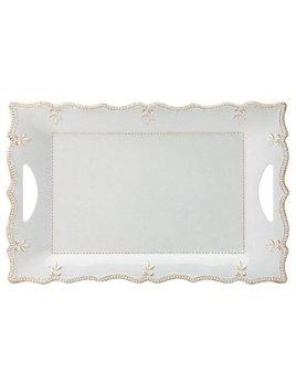 French Perle Melamine Gray Rectangula Platter by Lenox