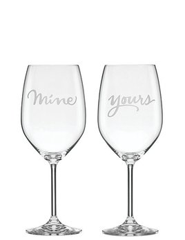 Wine Glass Kate Spade New York Mine & Yours Glass Set by Lenox