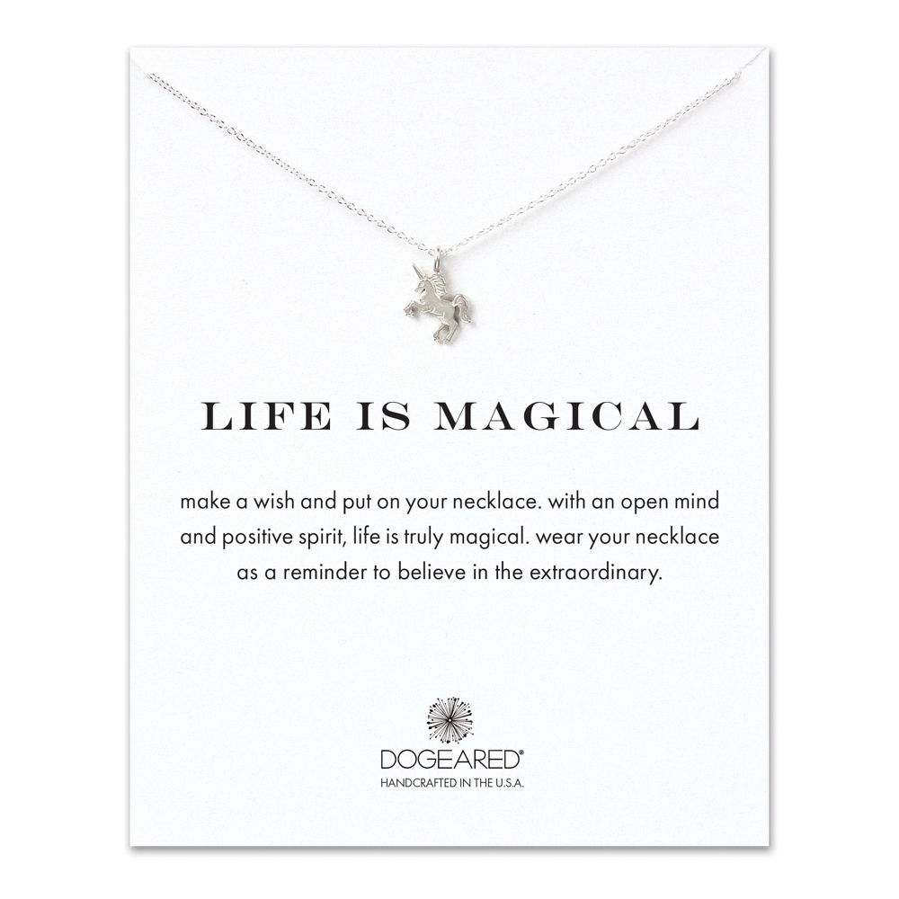 Necklace Life Is Magical Unicorn Necklace - Sterling Silver