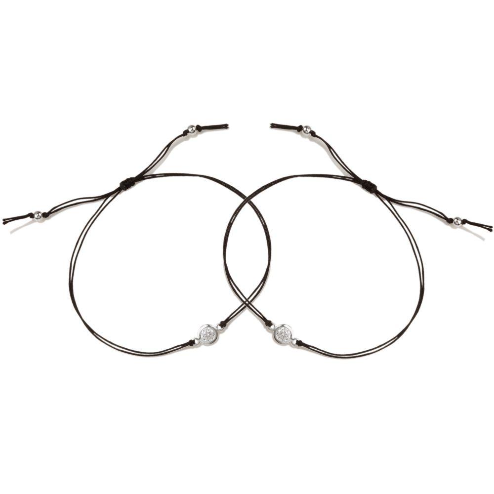 Bracelet You & Me Crystal Cord Friendship Bracelets