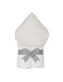 Towel Personalized Gray Check Everykid Towel