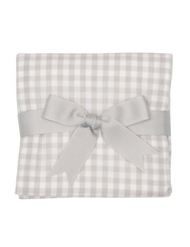 Burp Cloth Gray Check Burp Cloth